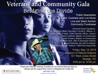 Veterans Entering Transition poster for the 2016 Veterans and Community Gala, Raleigh NC.