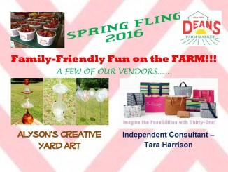 Spring Fling notice for 2016. Source: Deans Farm Market, Wilson NC.