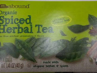 Gold Emblem Abound™ Organic Spiced Herbal Tea label. Source: FDA.gov.