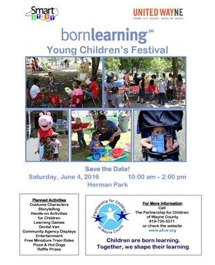 Annual Born Learning Festival, Goldsboro NC. Source: Wayne County Chamber of Commerce.