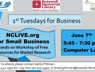 Braswell Memorial Library 1st Tuesday in June 2016.