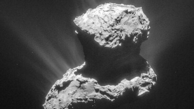 Rosetta Comet image released by Jet Propulsion Laboratory, California.
