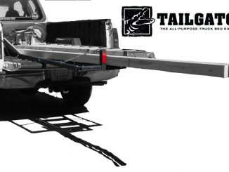 TailGator extends the legal load hanging distance by up to 3 feet. (PRNewsFoto/Elite Innovations, LLC).