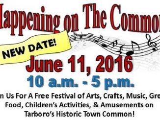 Happening on the Common Arts Festival, Tarobo NC, flyer header.