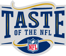 Taste of the NFL logo, copyrights, and trademarks of the National Football League / Taste of the NFL.