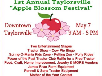 Taylorsville NC Apple Blossom Festival is May 7, 2016. Source: Taylorsville Apple Festival, Inc.