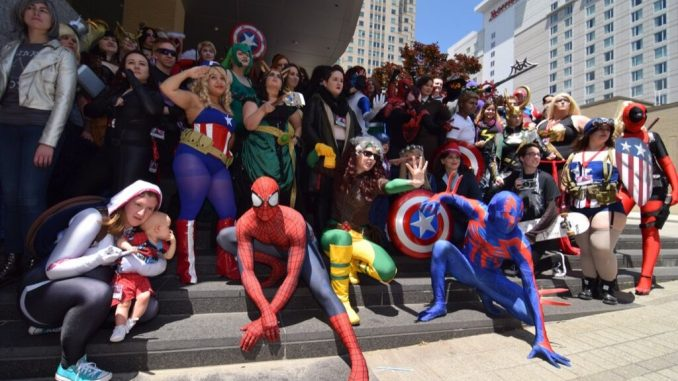 2016 Raleigh Animazement participants gather outside for a group photo. Photo: Mitch Amiano.