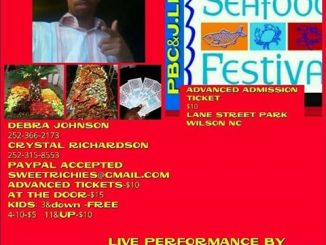 Seafood Festival flyer. Source: Crystal Richardson, Wilson NC.