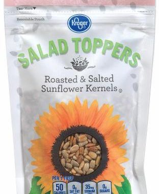 One of the packaging / labels released by the FDA with a sunflower product recall.