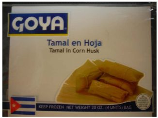 Tamale packaging label released with recall. Source: fda.gov.