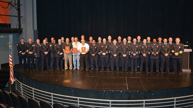 Rocky Mount Fire Department recognized its employee achievements in June 2016. Source: Tameka Norman, City of Rocky Mount, NC.