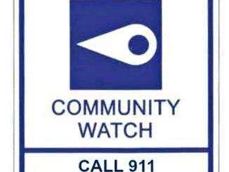 Pilot Area NC Community Watch Sign