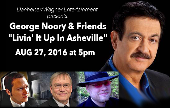 Poster for the Georgey Noory and Friends event August 27, 2016, in Asheville NC. Source: Danheiser/Wagner Entertainment.