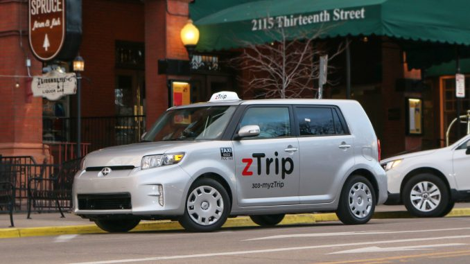 zTrip launched its service in Boulder CO in February 2016. Source: PRNewsFoto/zTrip.