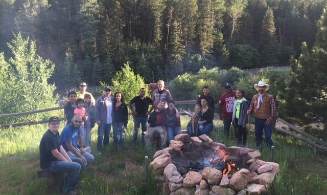 Warriors and family members enjoyed a Jeep ride through Cheyenne Mountain, which included a campfire and s'mores at a mountain ranch. Source: PRNewsFoto/Wounded Warrior Project.