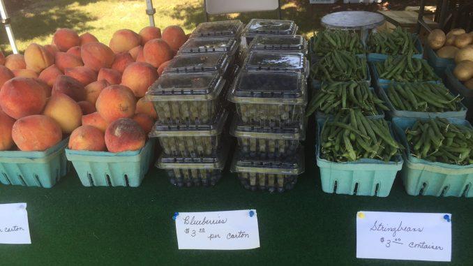 Produce at a farmer's market. Source: Kay Whatley.