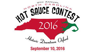 Oxford NC Hot Sauce Contest 2016 logo