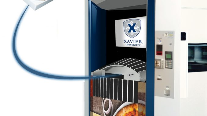 Xavier University branded Pizza ATM. Source: Paline (www.paline.com).