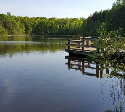 Lake dock, CrowdersMountainStatePark. Source: www.ncparks.gov.
