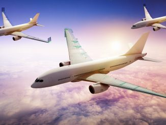 One of the green aviation concepts under NASA consideration. NASA researchers are examining mechanical methods for moving a segment of an airplane's outer wing in flight in order to allow designers to use smaller tails, which would reduce fuel use and emissions. Source: NASA.