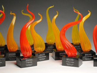 Eastern Carolina BBQ Throw Down trophies. Source: City of Rocky Mount NC. Credit: Garry Hodges.