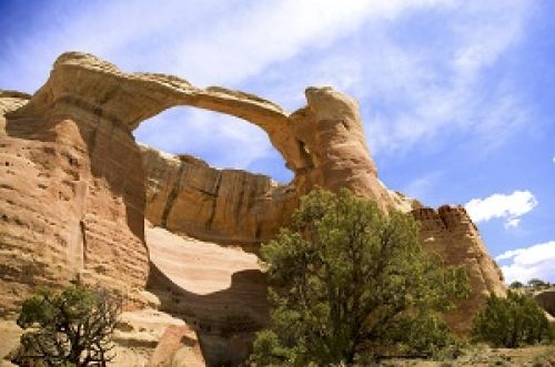 A natural arch in Rattlesnake Canyon, McInnis Canyons National Conservation Area. Source: Bureau of Land Management-Colorado.