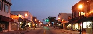 Downtown with lights. Source: Zebulon Chamber of Commerce, Zebulon NC.