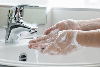 Wash your hands with plain soap and water. That's still one of the most important steps you can take to avoid getting sick and to prevent spreading germs. Source: US FDA.