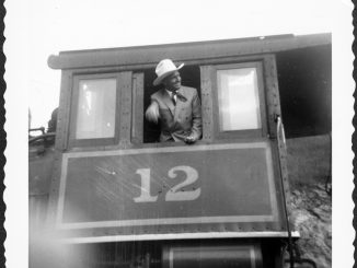 Gene Autry with Engine No. 12 at Tweetsie. Source: Tweetsie Railroad, Blowing Rock NC.