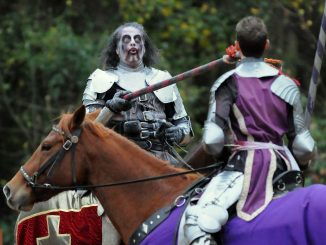 Knights of the Living Dead zombie jousting challenge. Source: Matt Siegel, Carolina Renaissance Festival, Huntersville NC.