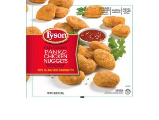 Label of one of the Tyson Foods Inc. nugget products recalled. Source: USDA.