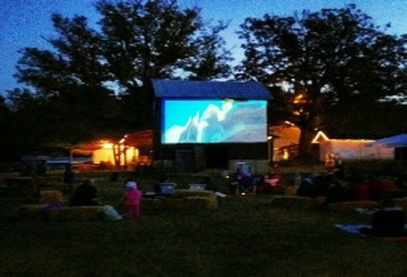 Vollmer Farm Movies on the Barn events return for Fall 2016. Source: Vollmer Farm, Bunn NC.