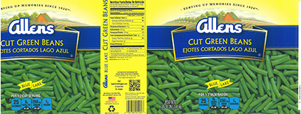 One of several foodservice products recalled for shellfish contamination in vegetables. Source: US FDA.