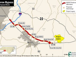 The Monroe Bypass would draw more sprawl and traffic eastward, harming air and water quality, and at $925 million, would saddle NC taxpayers with decades of debt. Photo: SELC.