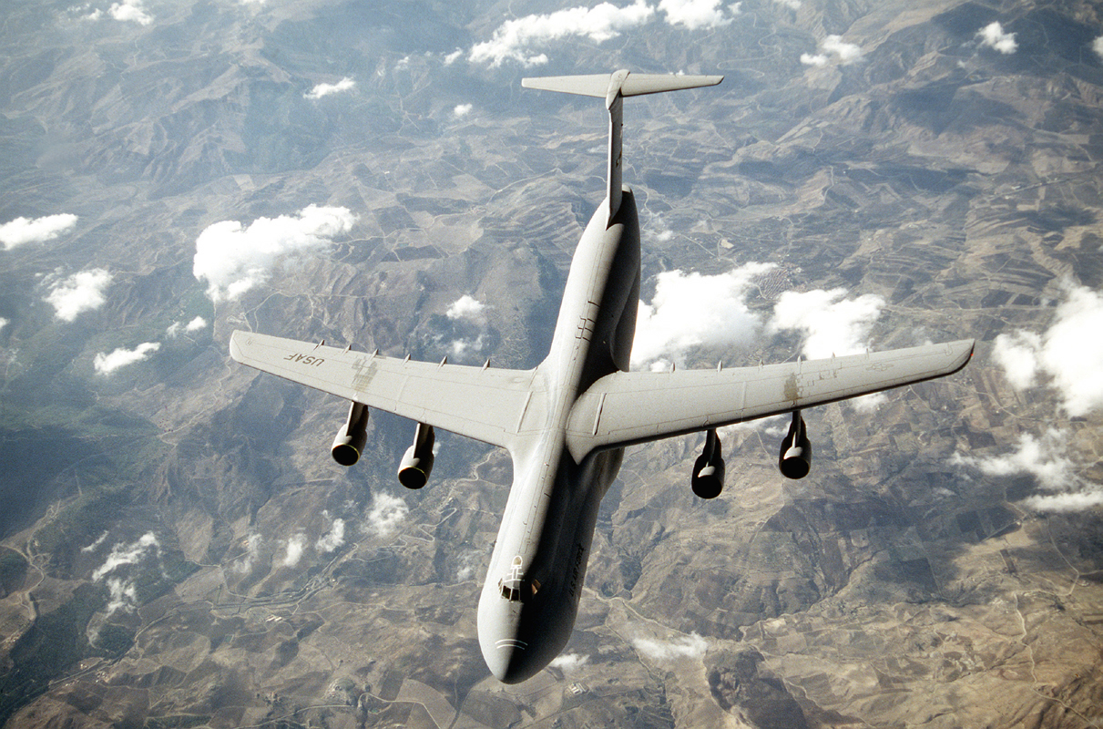The C-5 Galaxy. Source: US Air Force, photo by Brett Snow.