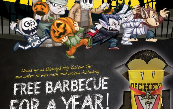 Dickey's Barbecue Pit hosts not-so-spooky costume contest for Halloween, free meals for kids. Source: PRNewsFoto/Dickey's Barbecue Pit.