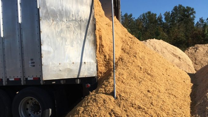 """According to the NCDA&CS, delivery of """"carbon materials"""" began October 13, 2016, for on-farm composting efforts. Source: NCDA&CS, Raleigh NC."""