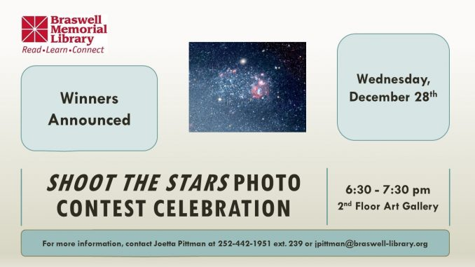 Photo Contest Celebration flyer. Source: Braswell Memorial Library, Rocky Mount NC.