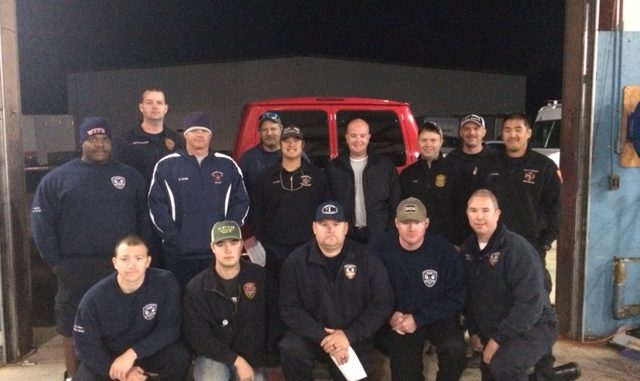 The Knightdale Fire Dept., crew they are working with from across NC. Source: Jonas Silver, Town of Knightdale.