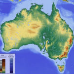 Australia shifts and tilts back and forth by several millimeters each year because of changes to the Earth's center of mass, according to a new study. Credit: Hans Braxmeier via Wikimedia Commons.