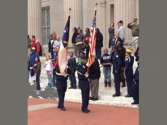 Photo of Veterans Day 2014 ceremony in Wilson NC. Photo by Frank Whatley.
