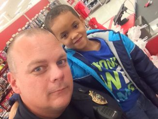 Knightdale Shop with a Cop photo, provided by Jonas Silver.