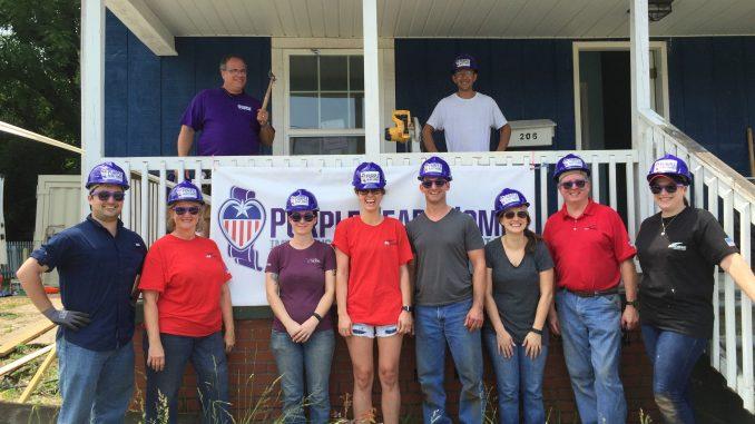 Purple Heart Homes volunteers completely renovate home for Iraq Veteran Lauren Hogan in Bessemer City, NC. Photo: PHH.