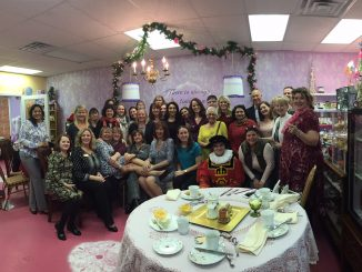 Lady Claire, her guests, and Oak Park Tea Room staff. Photo: Kay Whatley.