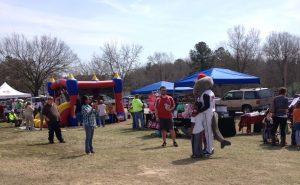 Part of the 2014 Bunn event along Railroad Street. Photo: Kay Whatley.