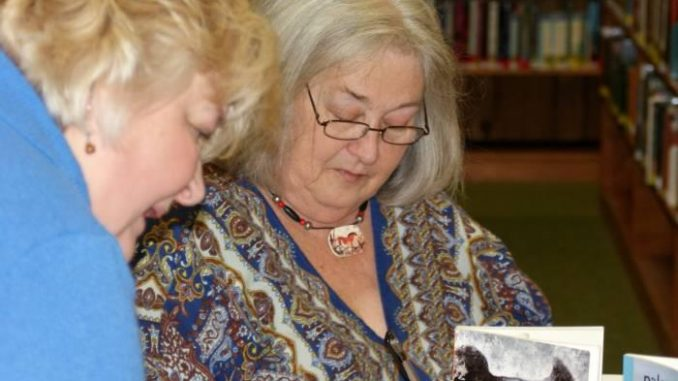 Donna Campbell Smith at a NC book signing.