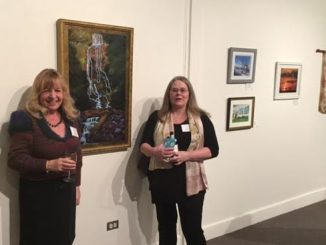 Clina Paloni and Dawn Lancaster, FCAC artists. Source: Donna Campbell Smith, FCAC.
