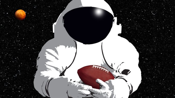Houston, we have a football. Source: NASA.