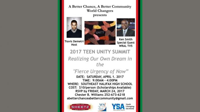 Teen Unity Summit flyer. Source: Chester B. Williams, ABC2 (edited for header).