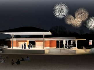 Renderings of the proposed stage and memorial plaza at night. Source: Jonas Silver, PIO, Town of Knightdale NC.